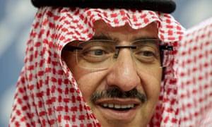 Saudi Arabia's interior minister, Mohammed bin Nayef