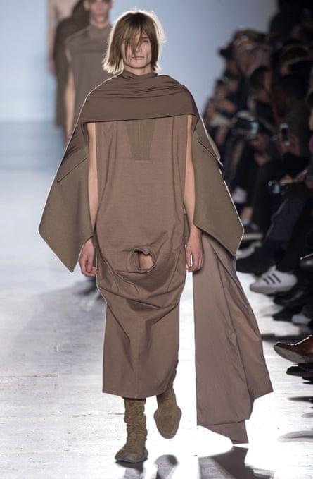 Rick Owens' now notorious autumn/winter 2015 menswear show.