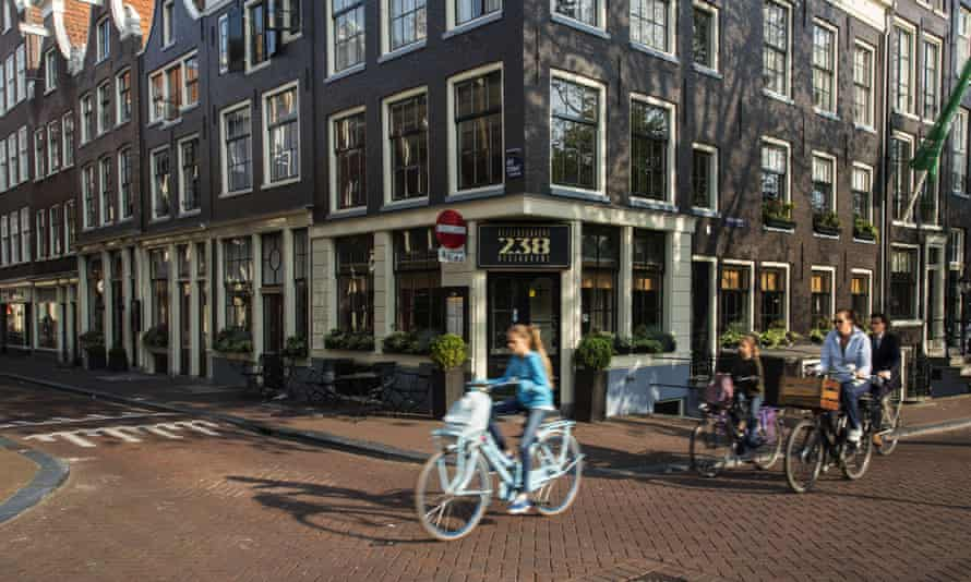 Cyclists in Amsterdam.