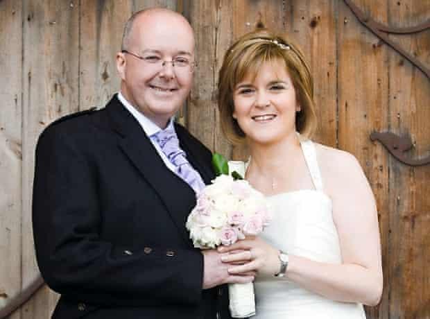 Nicola Sturgeon at her wedding to SNP chief executive, PeterMurrell, 2010