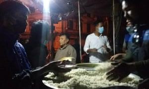 food for earthquake survivors