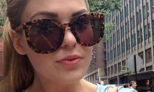 Belle Gibson in sunglasses