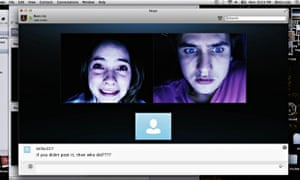 Shelley Hennig, left, and Moses Storm in Unfriended.