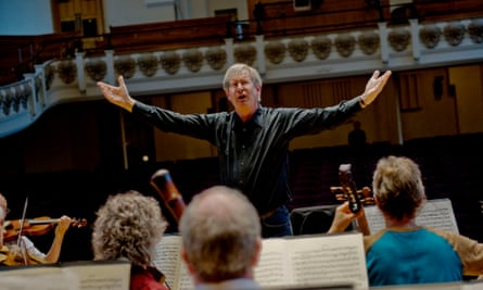 Sir John Eliot Gardiner rehearsing Handel's Israel in Egypt with the English Baroque Soloists and the Monteverdi Choir, Cadogan Hall, London. Commissioned for Arts