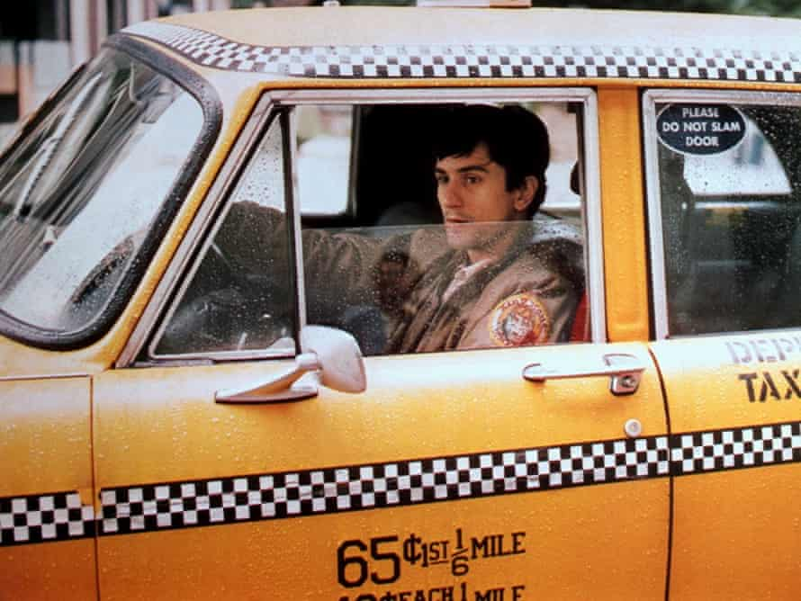 'Some day a real rain will come and wash all this scum off the streets' … Bickle in his taxi.