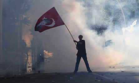 A protester against the ruling AK party in Gezi Park, Istanbul, June 2013.