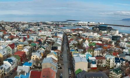 Housing in capital city of Reykjavik, Iceland.