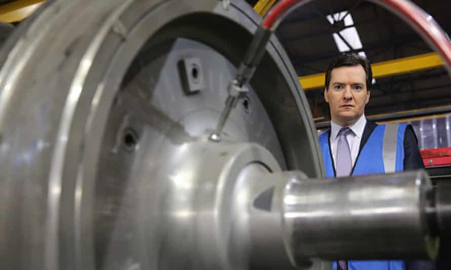 George Osborne tours a factory of train wheel manufacturers