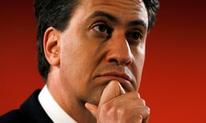 Labour party leader Ed Miliband listens to a question from supporters at Memorial Hall in Barry.