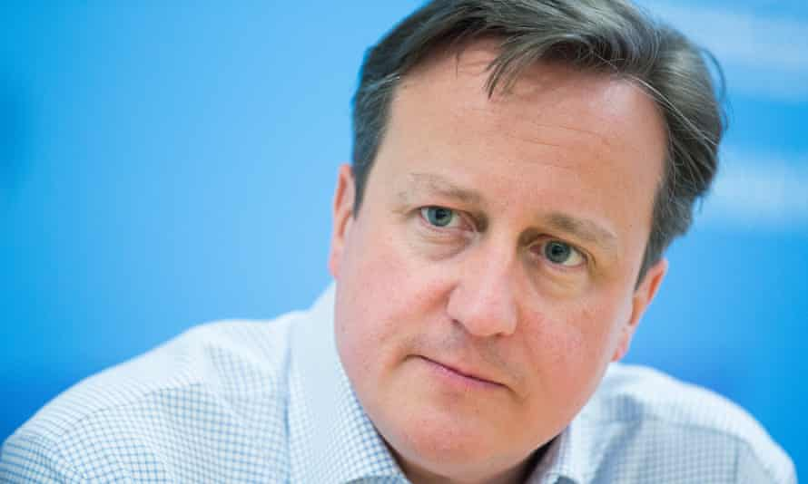 David Cameron adopted a cautious tone in the early weeks of the campaign.