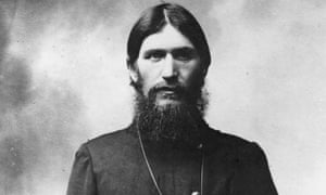 Rasputin the famous Russian monk who was influential to Tsar Nicholas II and his family in the 19th century and connected with the monarchs downfall.
