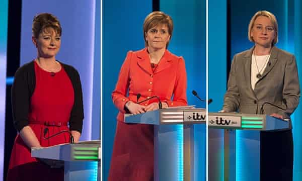 Leanne Wood, Nicola Sturgeon and Natalie Bennett at the leaders debate