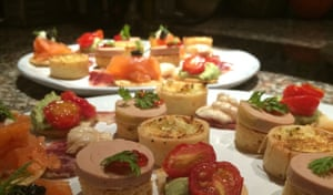 Canapes at the Friday-night supper club