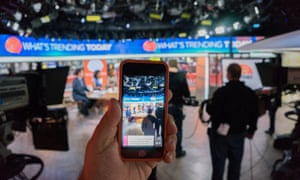 Twitter's Periscope App is used at NBC's Today Show.