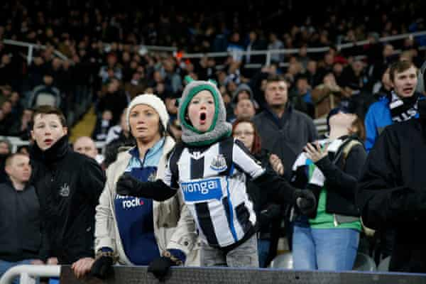 Home fans in the Gallowgate End.
