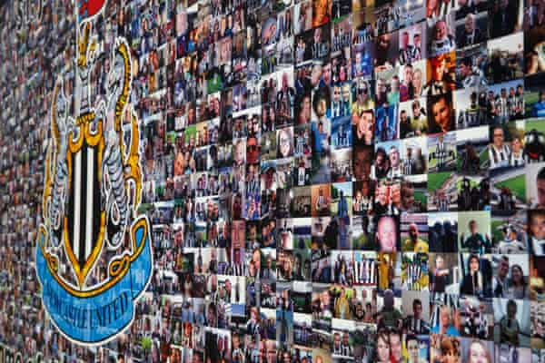 The Newcastle United fans mural.