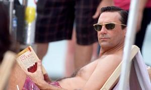 Don reading Dante in Hawaii.