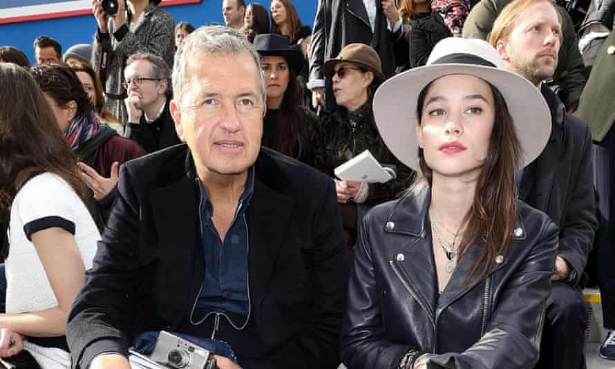 Testino on the front row with Astrid Berges Frisbey.