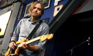 Ben Gibbard of Death Cab For Cutie performs at Amoeba Music.
