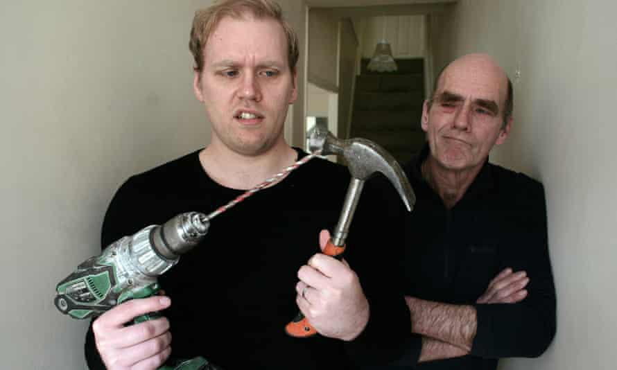 Generation gap … Stuart Heritage and his tradesman dad, from whom he failed to learn any DIY skills.