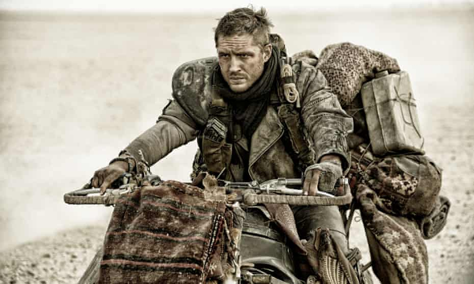 Mad Max: Fury Road … Tom Hardy settles in for a long ride