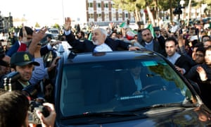 Mohammad Javad Zarif receives a hero's welcome in Tehran