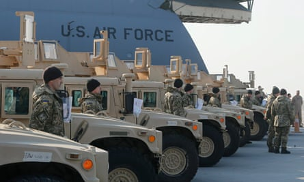 Supplying the first part of American HMMWV military vehicles to Ukraine