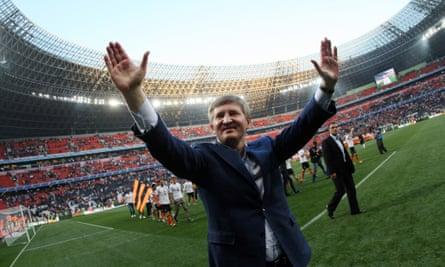 Rinat Akhmetov, owner and president of FC Shakhtar Donetsk.