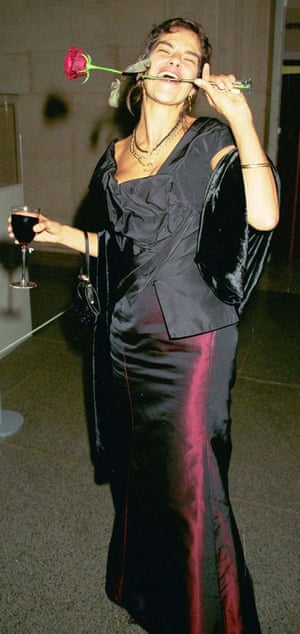 Tracey Emin at the 1999 Turner prize awards.