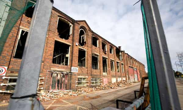 The West Works, part of the site, in the process of being demolished