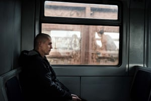 A passenger sits in a train carriage at Enakievo station after the resumption of the Yasinovataya-Lugansk train service. The Yasinovataya-Lugansk connection resumed this week in light of the fragile ceasefire agreement between pro-Russian rebels and the Ukrainian army