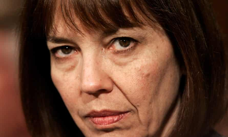 New York Times reporter Judith Miller listens to proceedings during a Senate Judiciary Committee hearing on reporters' privilege legislation on Capitol Hill October 19, 2005. Miller was jailed 85 days for refusing to testify about her conversations with Vice President Dick Cheney's chief of staff regarding undercover CIA agent Valerie Plame.       REUTERS/Kevin Lamarque
