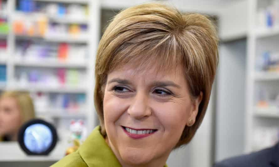 Nicola Sturgeon, the first minister and Scottish National party leader, on the campaign trail in Edinburgh on Friday.