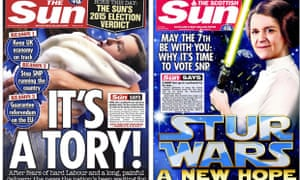 The Sun and the Scottish Sun front pages