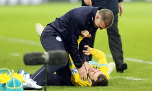 Nigel Pearson gets to grips with Palace's James McArthur in February.