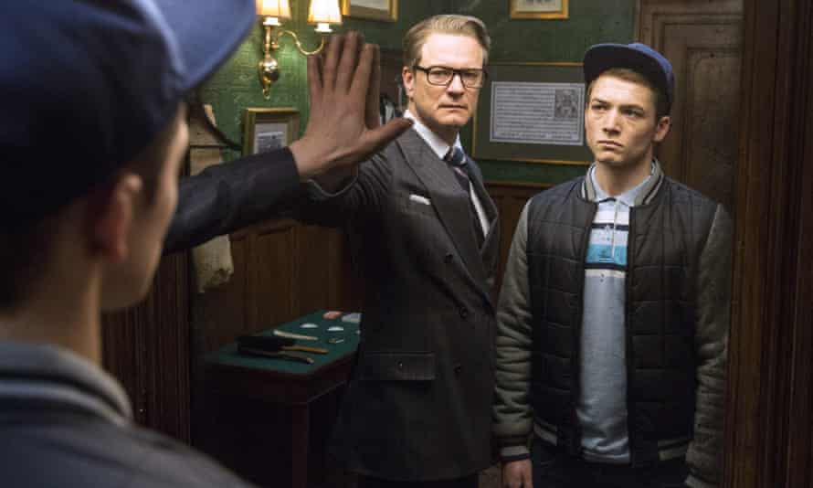 Suits two sir ... Colin Firth and Taron Egerton in Kingsman: The Secret Service.