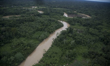 The Putaya River, in Peru's Ucayali department – home to many Ashaninka Indians, one of the country's largest Amazon communities. The Shipibo-Konibo Amazonians lived on the nearby Ucayali river before they were displaced in the 1990s, and settled in Lima.