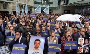 bbc press freedom protest