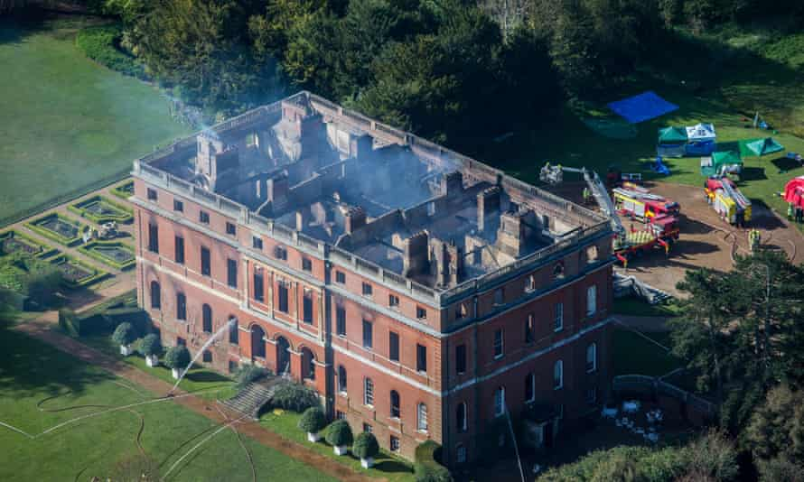 Clandon House seen from above.