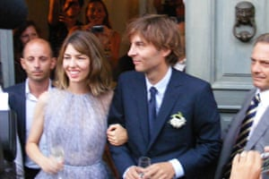 Not quite 40 but averse to a white dress: Sofia Coppola and Thomas Mars at their wedding ceremony in Bernalda in 2011.