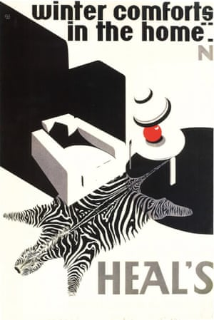 Heal's family / V&A Museum Heal's vintage posters luxury zebra