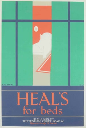 Heal's family / V&A Museum Vintage Heal's posters Beds