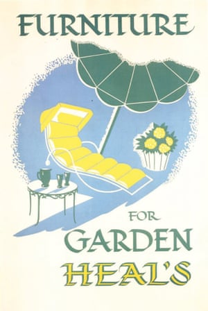 Heal's family / V&A Museum Vintage Heal's Posters garden furniture