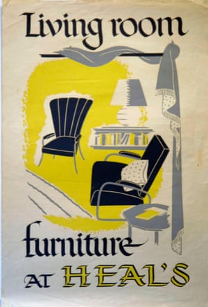 Heal's family / V&A Museum Vintage Heal's Posters Furniture