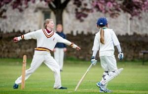 An under-13 cricket match