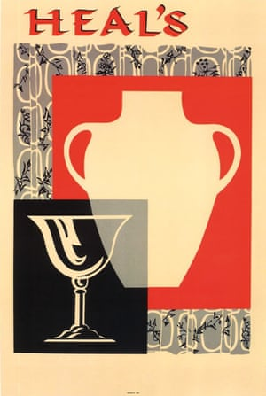 Heal's family / V&A Museum Pottery Glass Vintage Posters