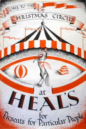 Heal's family / V&A Museum Vintage Heal's Posters Christmas circus