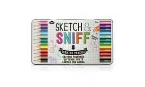 Sketch and sniff scented pencils