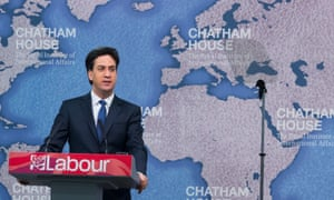 Ed Miliband at Chatham House, London.