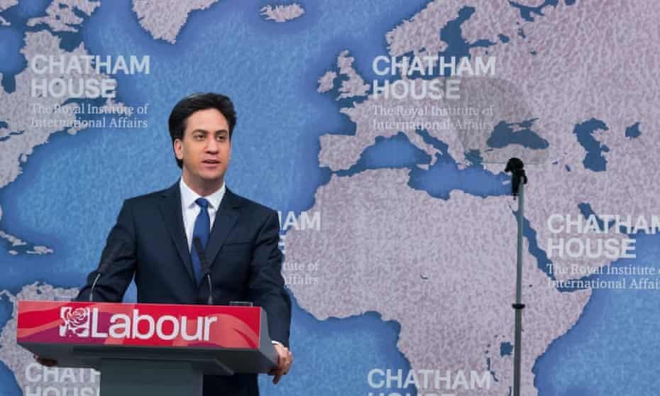 Ed Miliband at Chatham House, London.